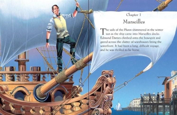 """Illustrazione presa dal sito della Usborne del primo capitolo de """"Il conte di Montecristo"""""""